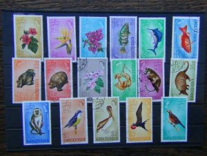 Grenada 1968 - 1971 Original set to $5 Fine Used ex later 75c