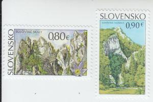 2015 Slovakia Beauty of our Homeland (2)  (Scott 721-2) MNH