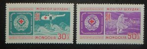 Mongolia 532-33. 1969 Mongolian Red Cross