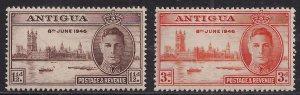 Antigua 1946 KGV1 Set of Victory MM  SG 110 -111 ( J512 )