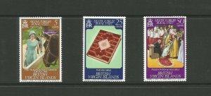British Virgin Islands,1977 Silver Jubilee UMM Set SG 364/6