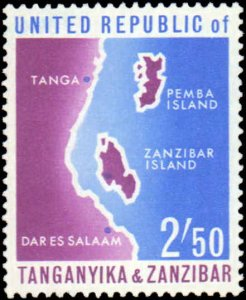 Tanzania #1-4, Complete Set(4), 1964, Never Hinged