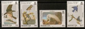 BERMUDA SG490/3 1985 J.AUDUBON (BIRDS) MNH