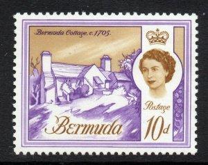 Bermuda 1962 QEII 10d Old Post Office wmk w12 upright SG 170a mint