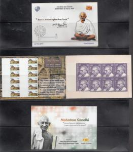 India  2017  Mahatma Gandhi  Stamp Booklet 20 Stamps  MNH   76692