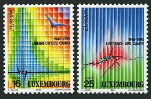 Luxembourg 927-928, MNH. Mi 1368-1369. EUROPE CEPT-1995. WW II Victory, 50th Ann