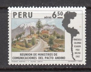 Peru SC# C418  1974 Commerce Ministers MNH