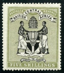 BRITISH CENTRAL AFRICA  SCOTT#39  MINT  HINGED SCOTT--$275.00