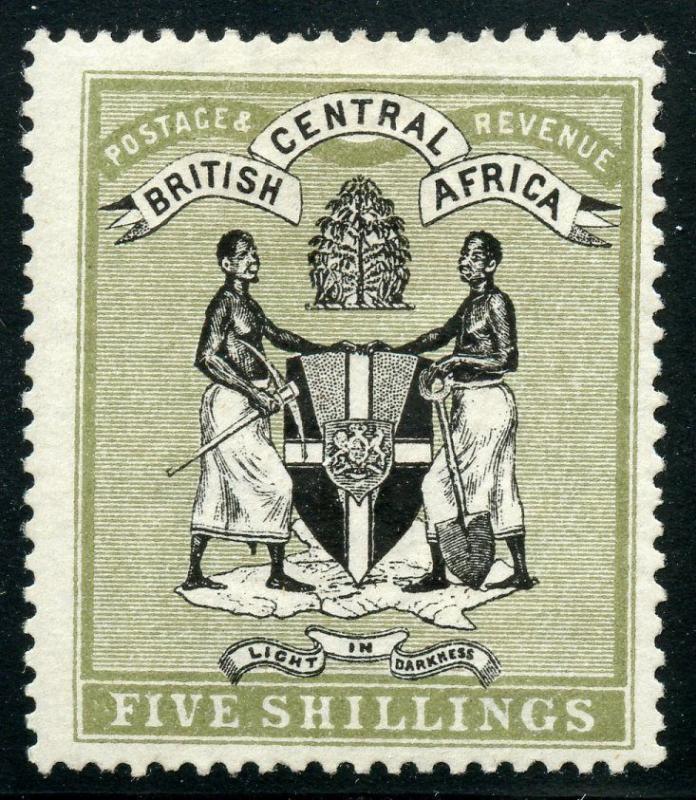 BRITISH CENTRAL AFRICA  SCOTT#39  MINT  HINGED SCOTT--$275.00