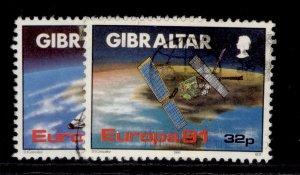 GIBRALTAR QEII SG649-650, 1991 Europa space set, FINE USED.