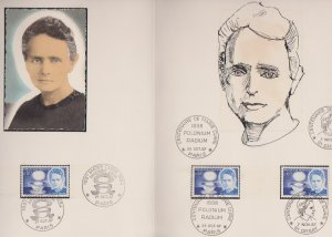 FRANCE STAMPS FDC -YEARS 1967 -MARIE CURIE # LOT#A-03