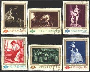 Romania. 1967. 2576-81. Painting. USED.