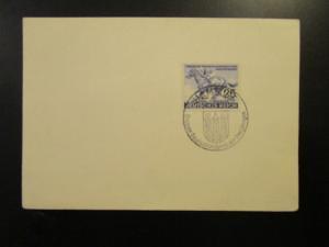 Germany 1940 Hamburd Blue Ribbon Event Card / Cancel - Z6572