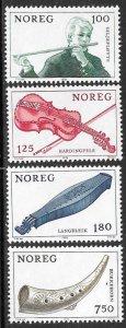NORWAY 1978 MUSICAL INSTRUMENTS Set Sc 734-737 MNH