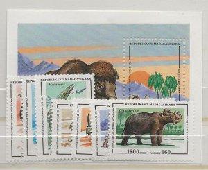 Madagascar  Dollar Special 1174-1181 nh
