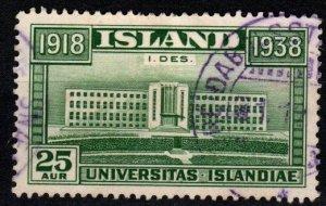 Iceland #209 F-VF Used CV $16.00 (X9292)