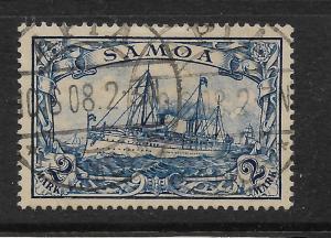 SAMOA  GERMAN 1901  2m   YACHT   FU   Sc 68