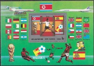 1982Korea,North 2254/B118 1982 World championship on football of Spain 12,00 €