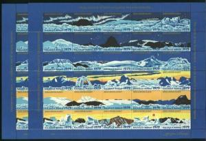 Greenland. Christmas Seal 1979 MNH.With 2 Different Perforation.10 Full Sheets.