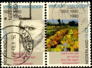 Details of Works By Vincent van Gogh, Netherlands stamp SC#754-5 used set