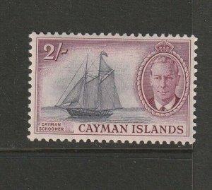 Cayman islands 1950 GV1 Defs 2/- MM SG 145