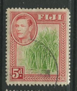 Fiji - Scott 124 - KGVI - Definitive - 1938 - FU - Single 5p Stamp