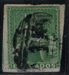 Barbados 1859 SC 12 Used 3 full margins SCV $800.00