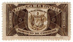 (I.B) El Salvador Postal : Officially Opened Seal