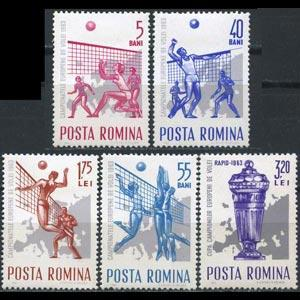 ROMANIA 1963 - Scott# 1575-9 Volleyball Set of 5 NH