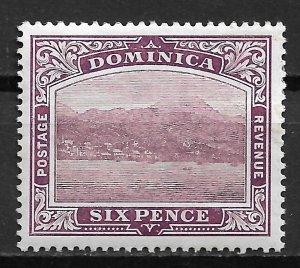 1909 Dominica #42  6p Roseau MH OG