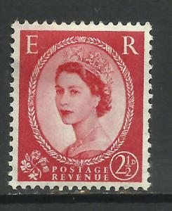 GB 1952 QE2 2 1/2d Wilding Wmk 153 MM SG 519 ( H414 )