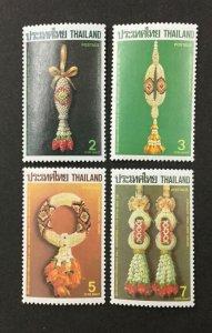 THAILAND #1192-1195, 1987 set of 4 VF MNH. Floral Garlands. CV $2.50. (BJS)