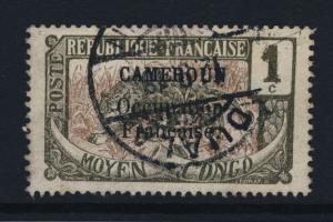 CAMEROUN - 1918 - CAD (ALLEMAND) DUALA / KAMERUN SUR N°68