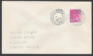 GB SCOTLAND 1971 cover BAYBLE / ISLE OF LEWIS cds..........................L507
