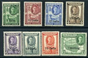 Somaliland Protectorate 1951 KGVI SG125-SG132 part set Unmounted Mint