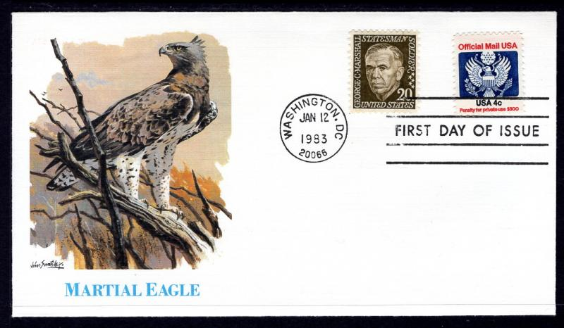US O128 Official Mail Fleetwood U/A FDC