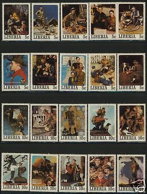 Liberia 853-7 MNH Norman Rockwell Scout Paintings, Flag
