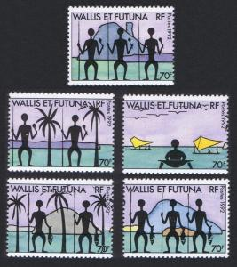 Wallis and Futuna Islands 5v SG#606-610 SC#436 a-e