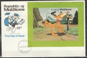 Maldives, Scott cat. 835. Year of the Child, Disney Cartoon. First day cover.
