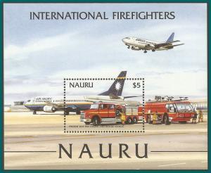 Nauru 2002 Firefighters, MS MNH 508,SGMS555