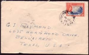 GILBERT & ELLICE IS 1958 cover BETIO to USA................................37288