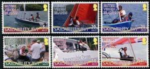 HERRICKSTAMP VIRGIN ISLANDS Sc.# 1136-41 Sailboats