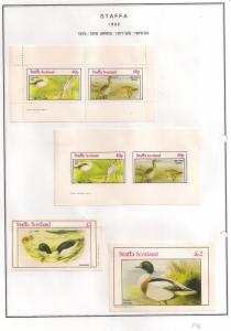 SCOTLAND - STAFFA - 1982 - Birds #2 - Perf, Imp 2v, Souv, D/L Sheets - MLH