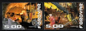 (CMA) Faroe Islands Scott #427-28 MNH Complete Set