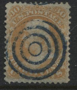USA 1861 30 cent orange Franklin used (JD)