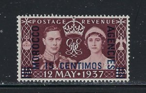 Great Britain off in Morocco 439 MLH 1937 KGVI Coronation   #2
