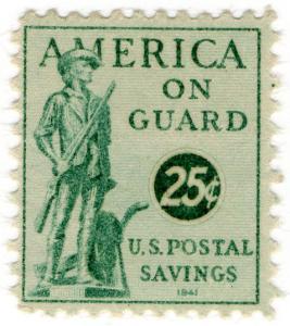 (I.B-CK) US Revenue : Postal Savings 25c (1941)