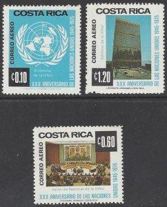 Costa Rica C646-8 MNH  United Nations 30th Anniversary 1975