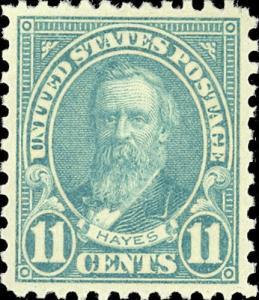 1931 11c Rutherford B. Hayes, Light Blue Scott 692 Mint F/VF NH
