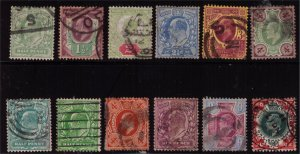 GREAT BRITIAN - KEVII -1902 1/2p to 1/ = SG257